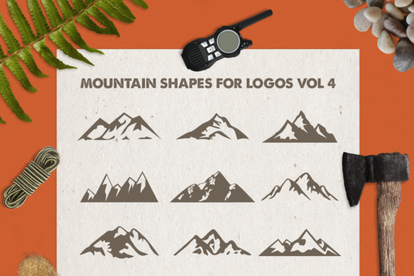 Print on Demand: Mountain Shapes Bundle Graphic Logos By LovePowerDesigns - Image 5