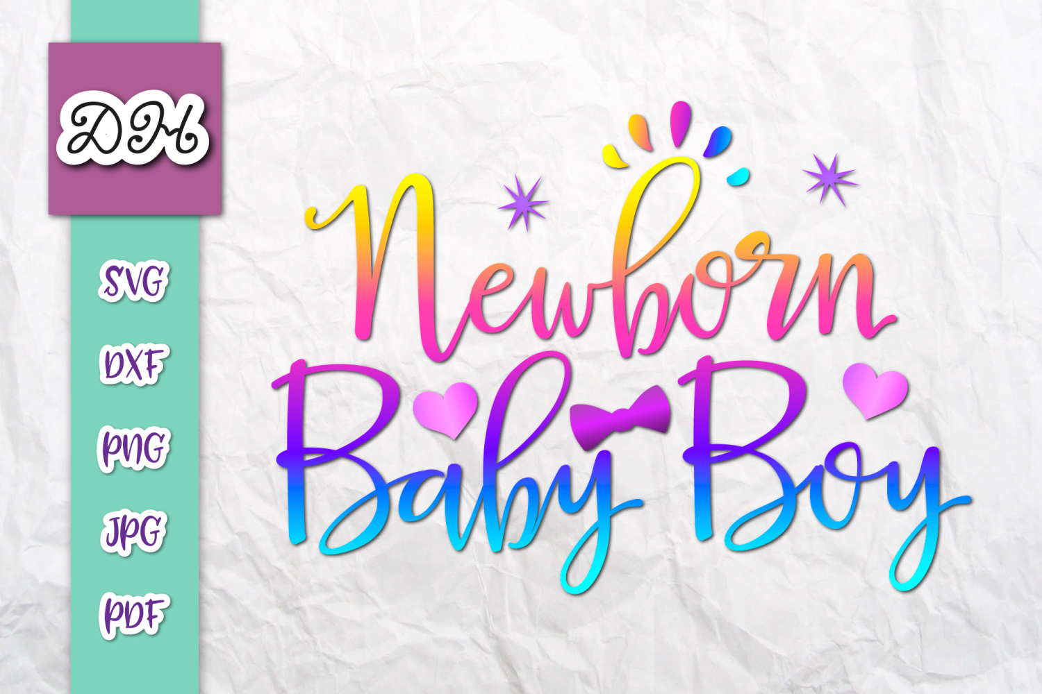 Download Free Newborn Baby Boy Clipart Print Cut Graphic By Digitals By for Cricut Explore, Silhouette and other cutting machines.