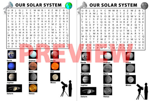 Our Solar System Word Search Graphic 3rd grade By Saving The Teachers