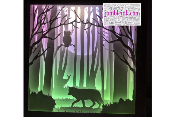 Download Free Owl Wolf 3d Paper Cut Light Box Grafico Por Jumbleink Digital for Cricut Explore, Silhouette and other cutting machines.