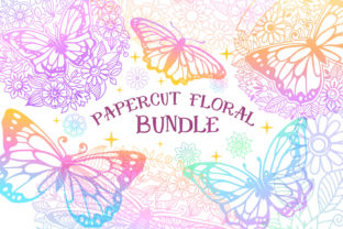 Download Free Papercut Floral Bundle Graphic By Tatiana Cociorva Creative for Cricut Explore, Silhouette and other cutting machines.
