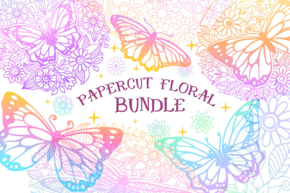 Print on Demand: Papercut Floral Bundle | 21 Cut File Gráfico Crafts Por tatiana.cociorva