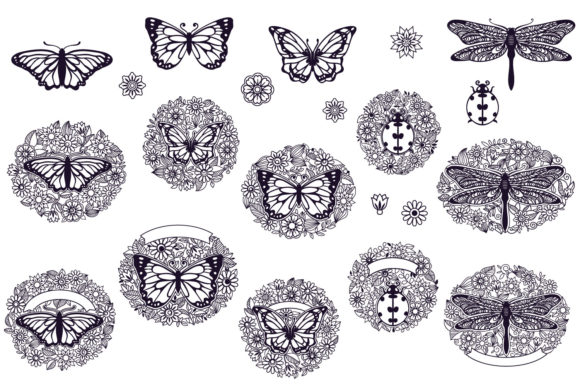 Print on Demand: Papercut Floral Bundle | 21 Cut File Graphic Crafts By tatiana.cociorva - Image 3