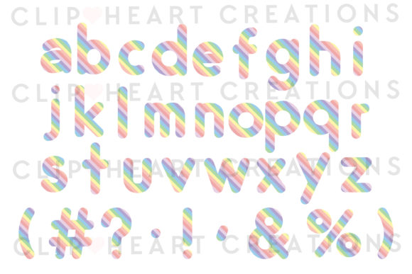 Download Free Pastel Rainbow Alphabet Clipart Graphic By Clipheartcreations for Cricut Explore, Silhouette and other cutting machines.