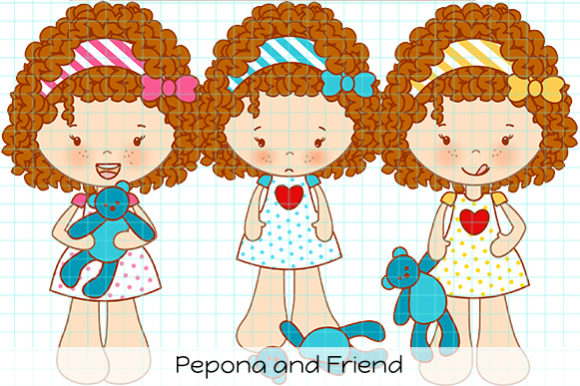 Download Free Pepona And Friend Graphic By Dolls To Go Creative Fabrica for Cricut Explore, Silhouette and other cutting machines.