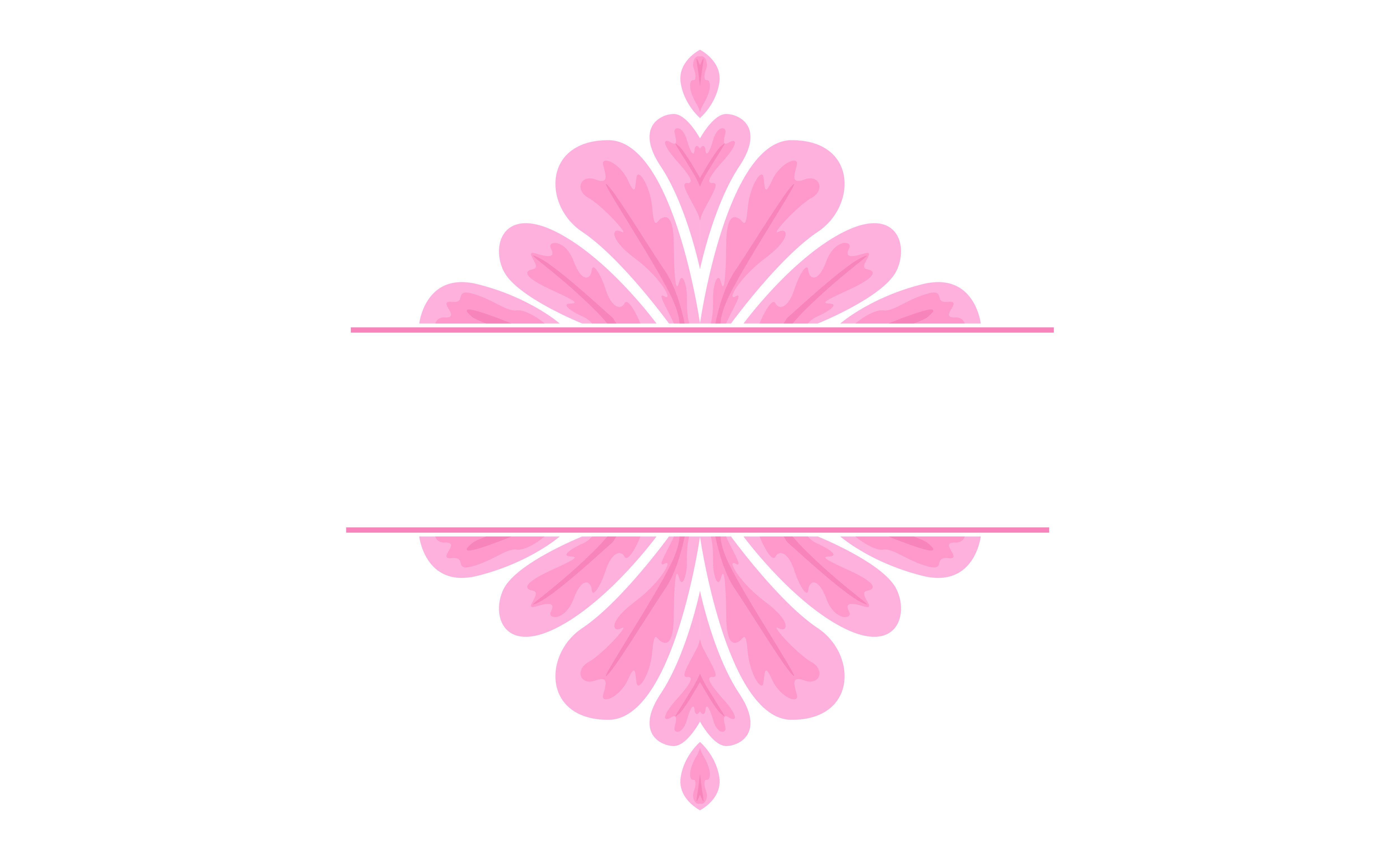 Download Free Pink Ornament Border Design Graphic By Arief Sapta Adjie for Cricut Explore, Silhouette and other cutting machines.