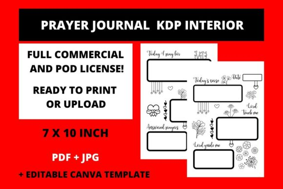 Download Free Prayer Journal Kdp Interior Canva Templ Graphic By Fleur De for Cricut Explore, Silhouette and other cutting machines.