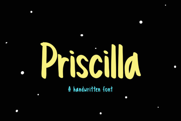 Print on Demand: Priscilla Script & Handwritten Font By Wanida Toffy