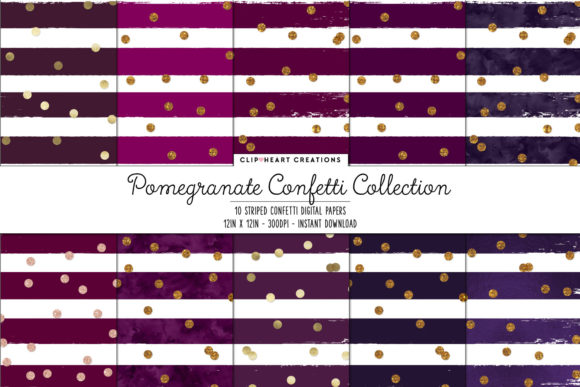 Purple Confetti Sparkle Digital Papers Graphic Backgrounds By clipheartcreations