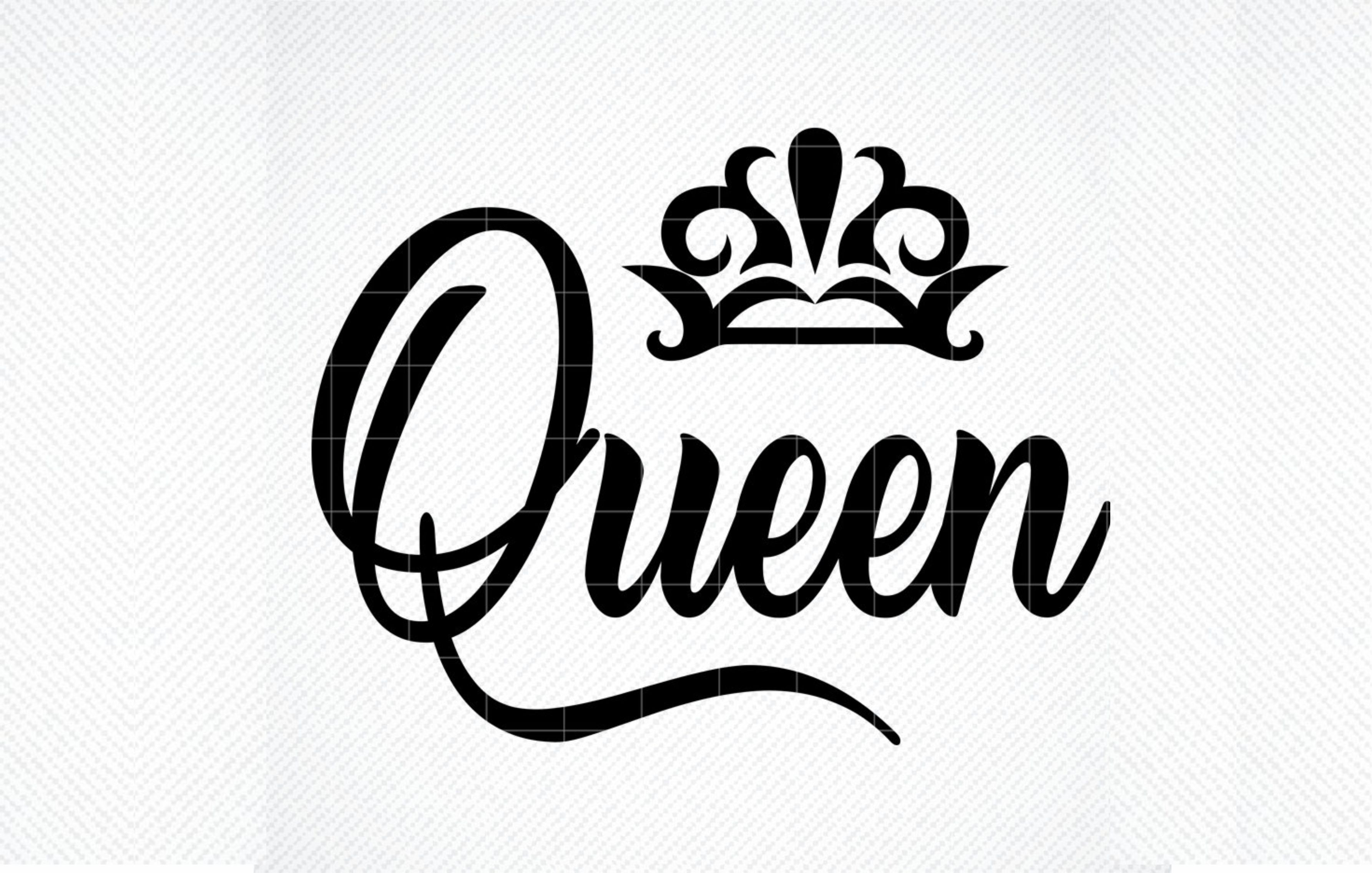 Download Free Queen File Queen Quote Cut File Graphic By Svg Den Creative for Cricut Explore, Silhouette and other cutting machines.