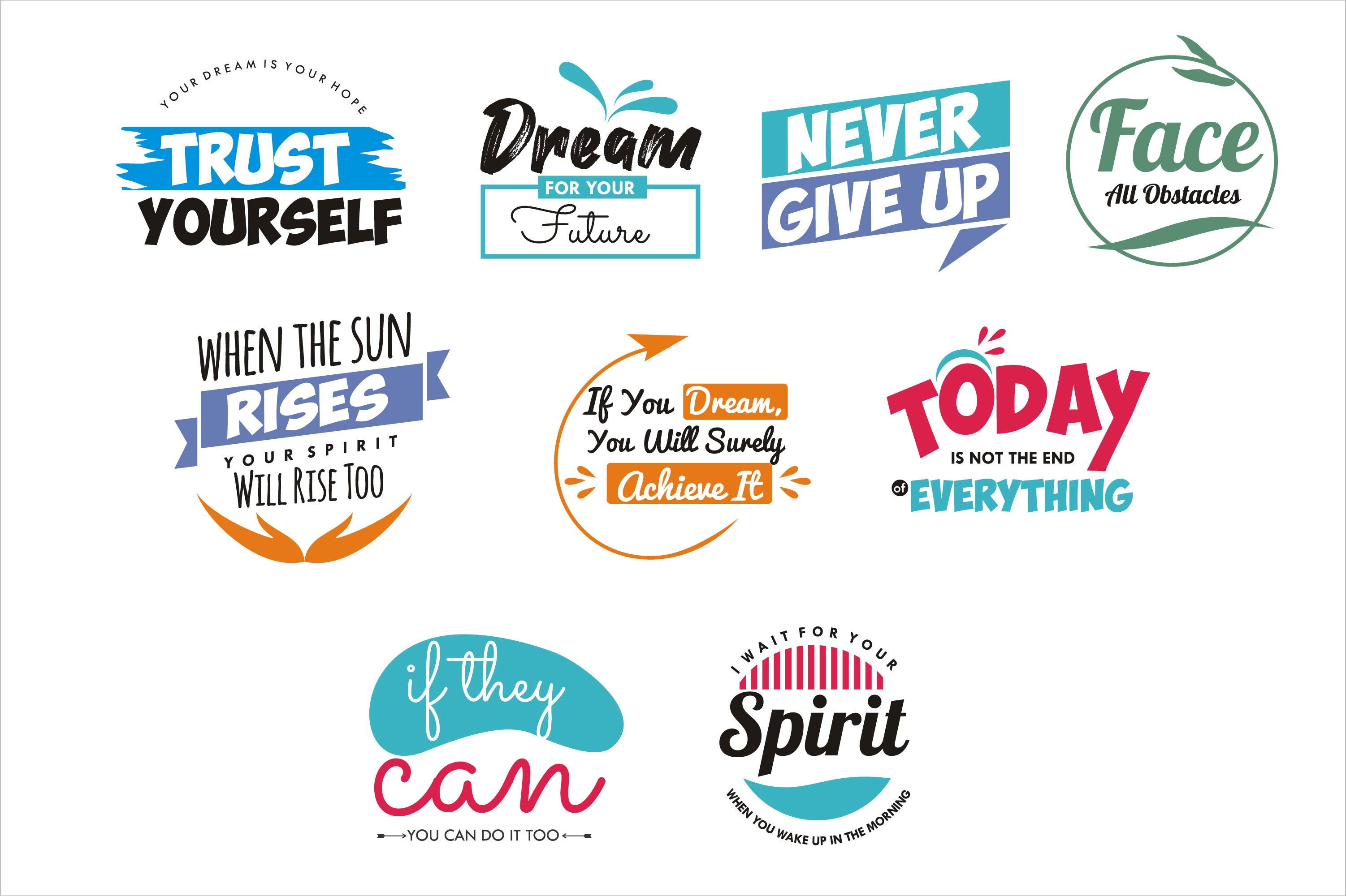 Download Free Quotes Bundle Graphic By Edywiyonopp Creative Fabrica for Cricut Explore, Silhouette and other cutting machines.