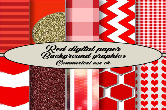 Download Free Red Backgrounds Digital Paper Pack Graphic By A Design In Time for Cricut Explore, Silhouette and other cutting machines.