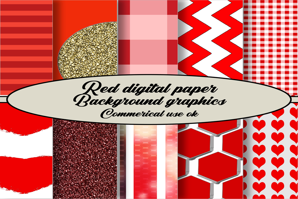 Red Backgrounds Digital Paper Pack Graphic By A Design In Time