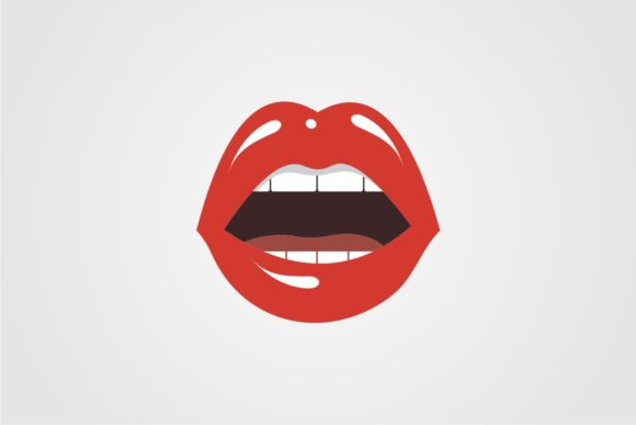 Print on Demand: Red Lips Graphic Illustrations By Bintangcreative