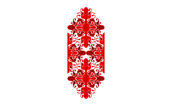 Download Free Red Ornament Design Graphic By Arief Sapta Adjie Creative Fabrica for Cricut Explore, Silhouette and other cutting machines.