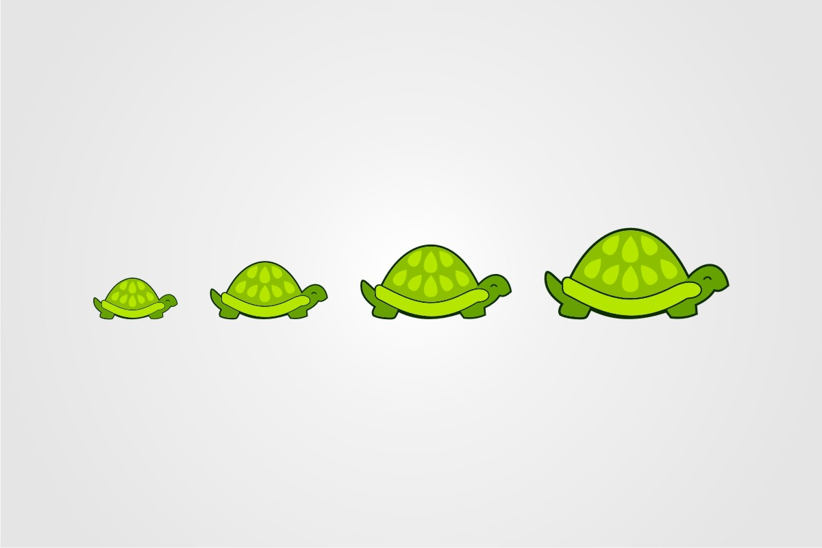 Download Free Rows Of Turtles Graphic By Bintangcreative Creative Fabrica for Cricut Explore, Silhouette and other cutting machines.