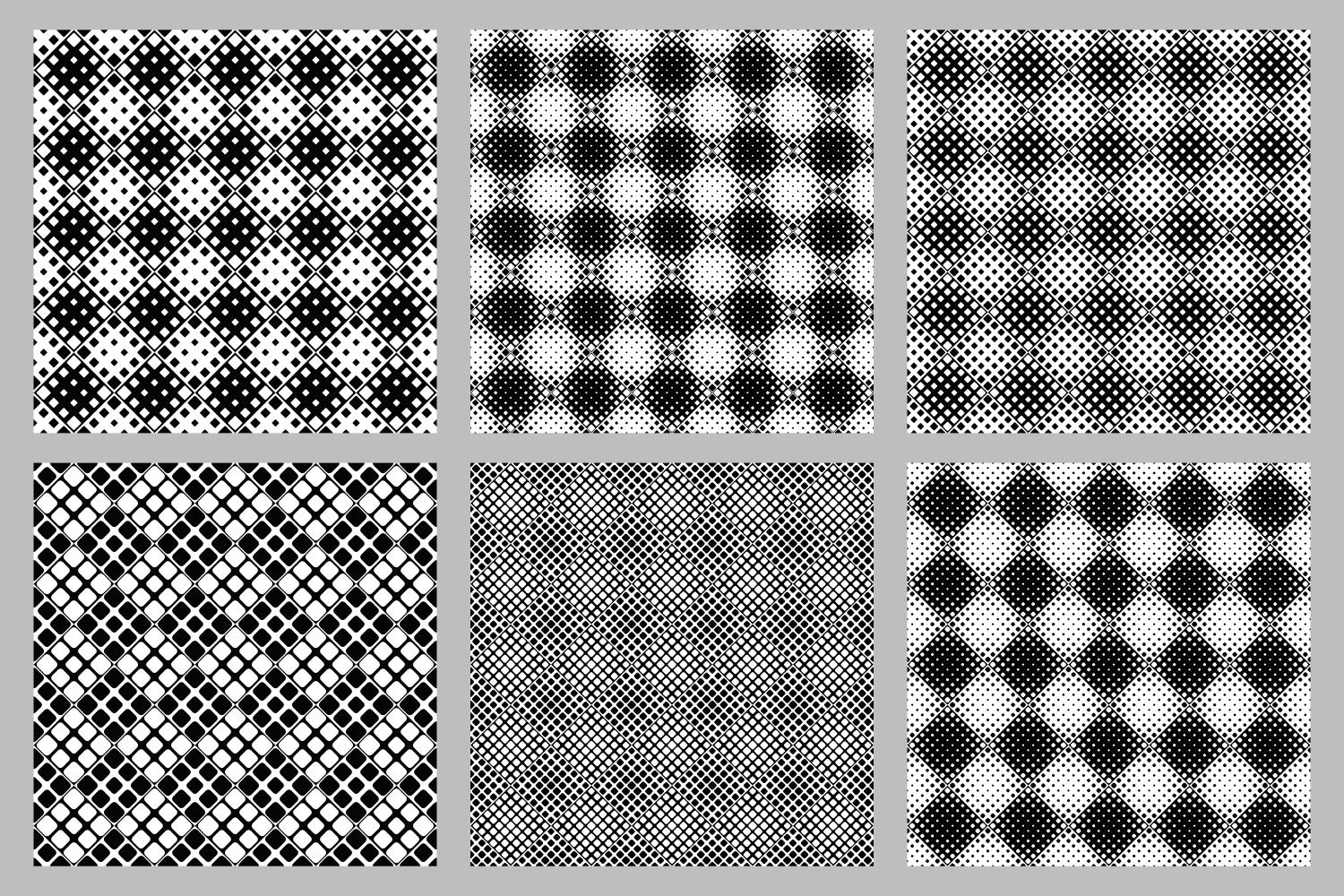 Download Free Seamless Monochrome Square Pattern Set Graphic By Davidzydd for Cricut Explore, Silhouette and other cutting machines.