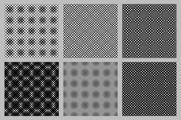 Seamless Rounded Square Pattern Set Graphic By Davidzydd