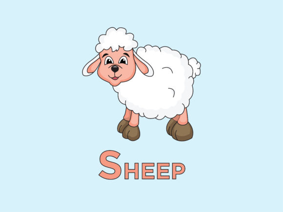 Print on Demand: Sheep Animal for Alphabet S Graphic Illustrations By doridodesign