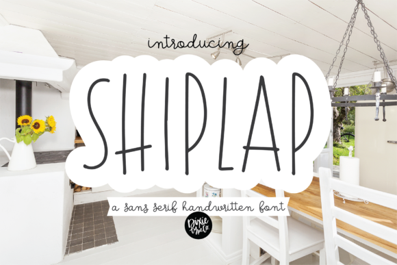 Print on Demand: Shiplap Sans Serif Font By dixietypeco