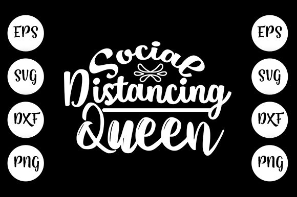 Print on Demand: Social Distancing Queen Graphic Print Templates By Design_store