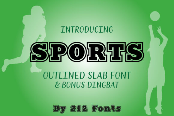 Download Free Sports Font By 212 Fonts Creative Fabrica for Cricut Explore, Silhouette and other cutting machines.