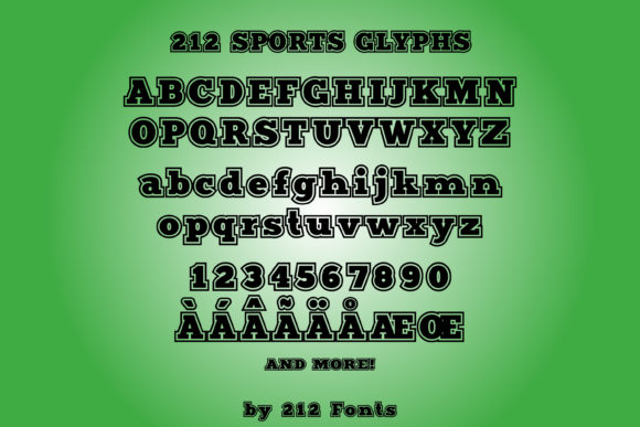 Print on Demand: Sports Display Font By 212 Fonts - Image 6
