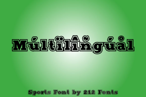 Print on Demand: Sports Display Font By 212 Fonts - Image 9
