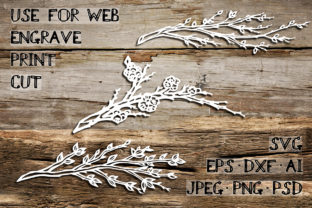 Download Free Spring Branches Graphic By Av Design Creative Fabrica for Cricut Explore, Silhouette and other cutting machines.