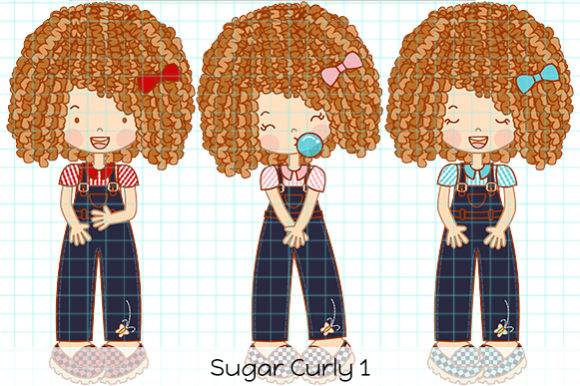 Print on Demand: Sugar Curly 1 Graphic Illustrations By Dolls To Go