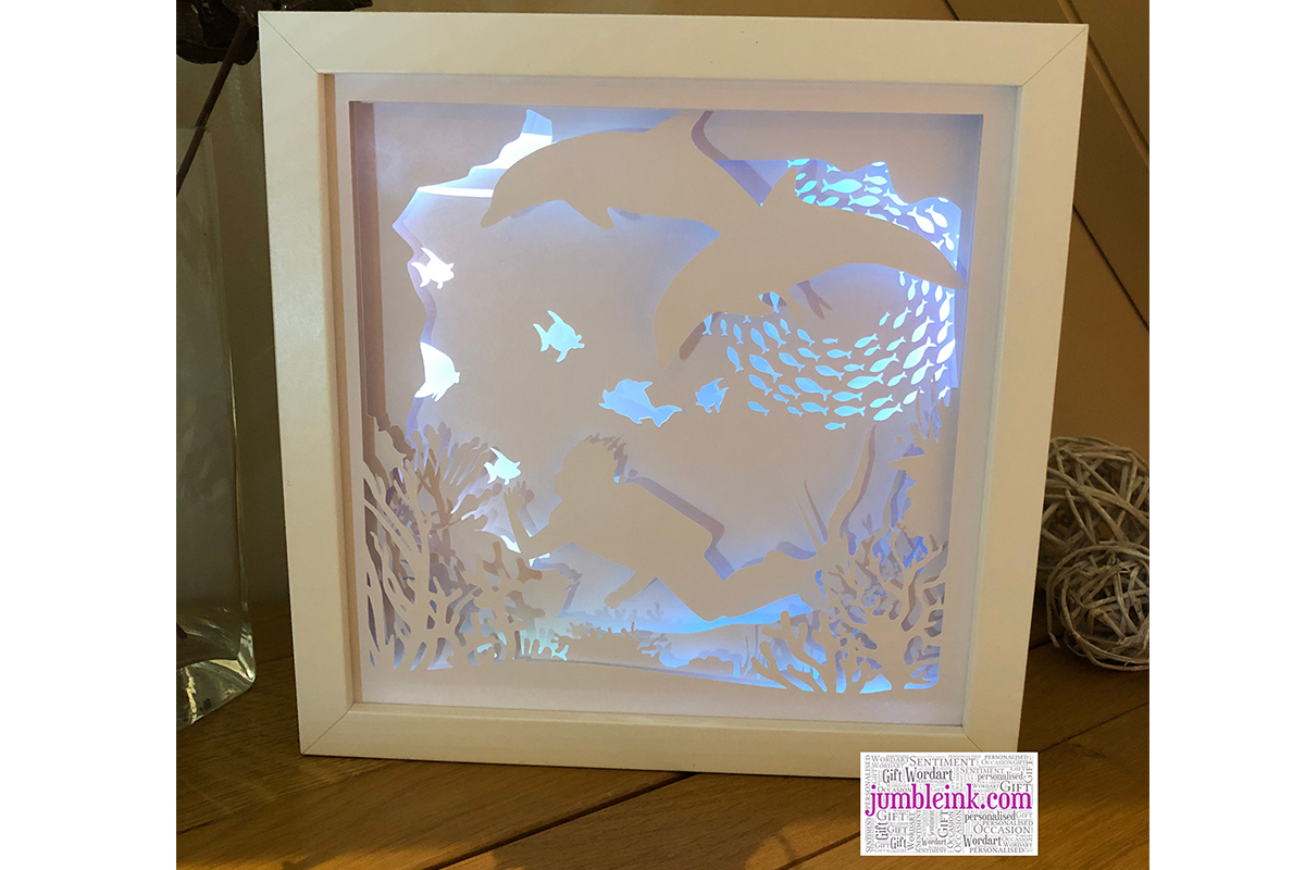 Under The Sea 3d Paper Cut Light Box Graphic By Jumbleink Digital Downloads Creative Fabrica