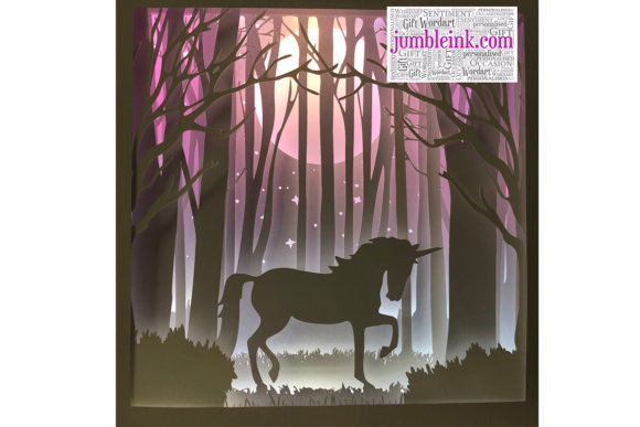 Download Free Unicorn 3d Paper Cut Light Box Graphic By Jumbleink Digital for Cricut Explore, Silhouette and other cutting machines.