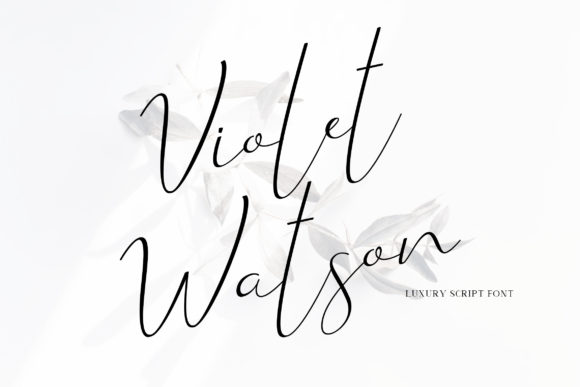 Print on Demand: Violet Watson Script & Handwritten Font By rometheme