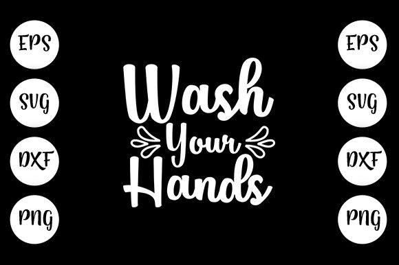 Print on Demand: Wash Your Hands Graphic Print Templates By Design_store