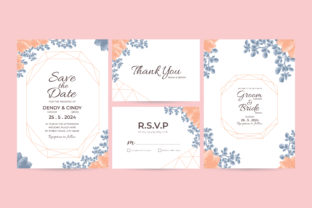 Download Free Watercolor Wedding Invitation Template Graphic By Dendysign for Cricut Explore, Silhouette and other cutting machines.