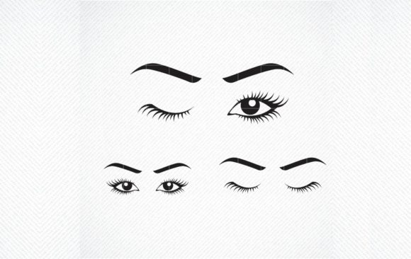 Download Free Winking Lashes Lady S Eyes Mascara Graphic By Svg Den for Cricut Explore, Silhouette and other cutting machines.
