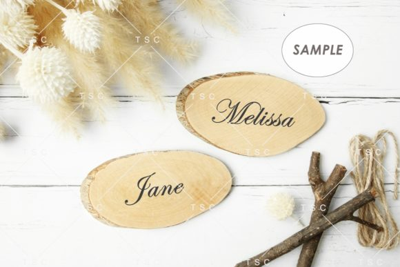 Download Free Wood Place Card Mockup Graphic By Thesundaychic Creative Fabrica for Cricut Explore, Silhouette and other cutting machines.