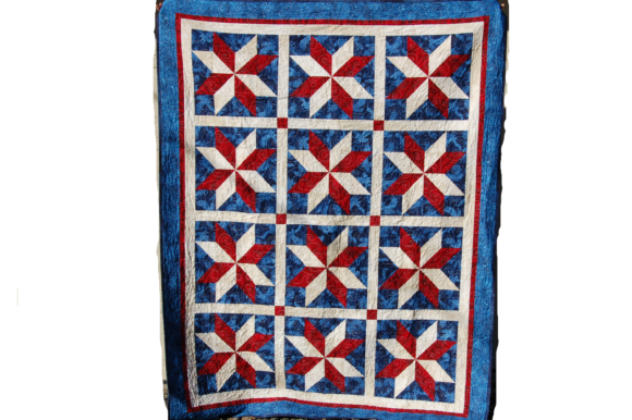 Yankee Doodle Stars Quilt Pattern Graphic Quilt Patterns By F. Calvert Creations - Image 1