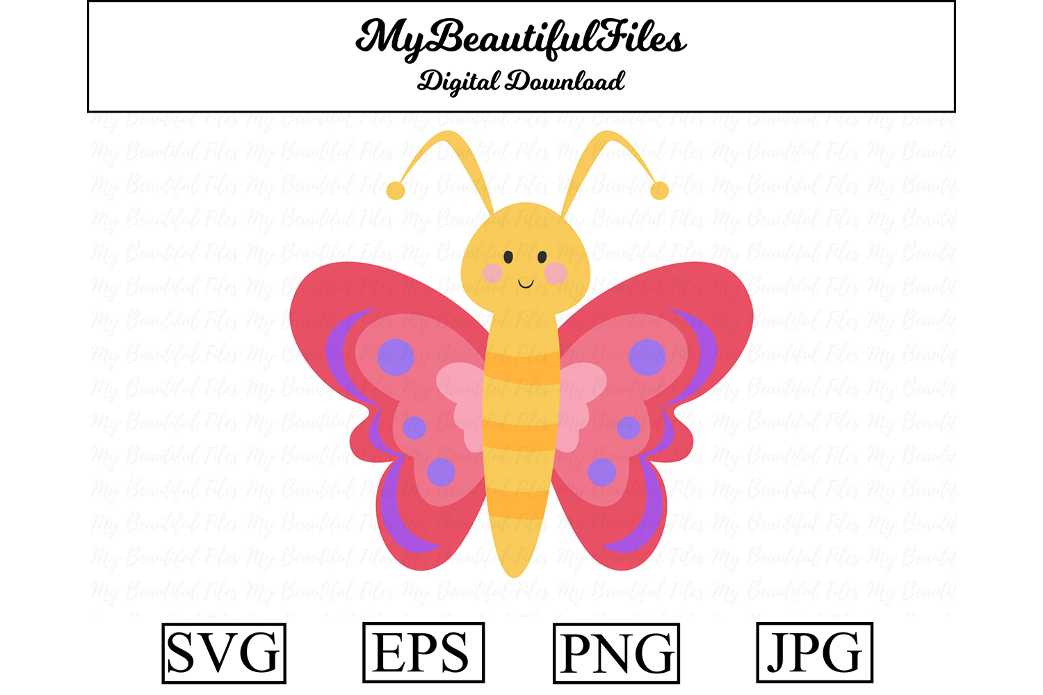 Download Free Butterfly Graphic By Mybeautifulfiles Creative Fabrica for Cricut Explore, Silhouette and other cutting machines.