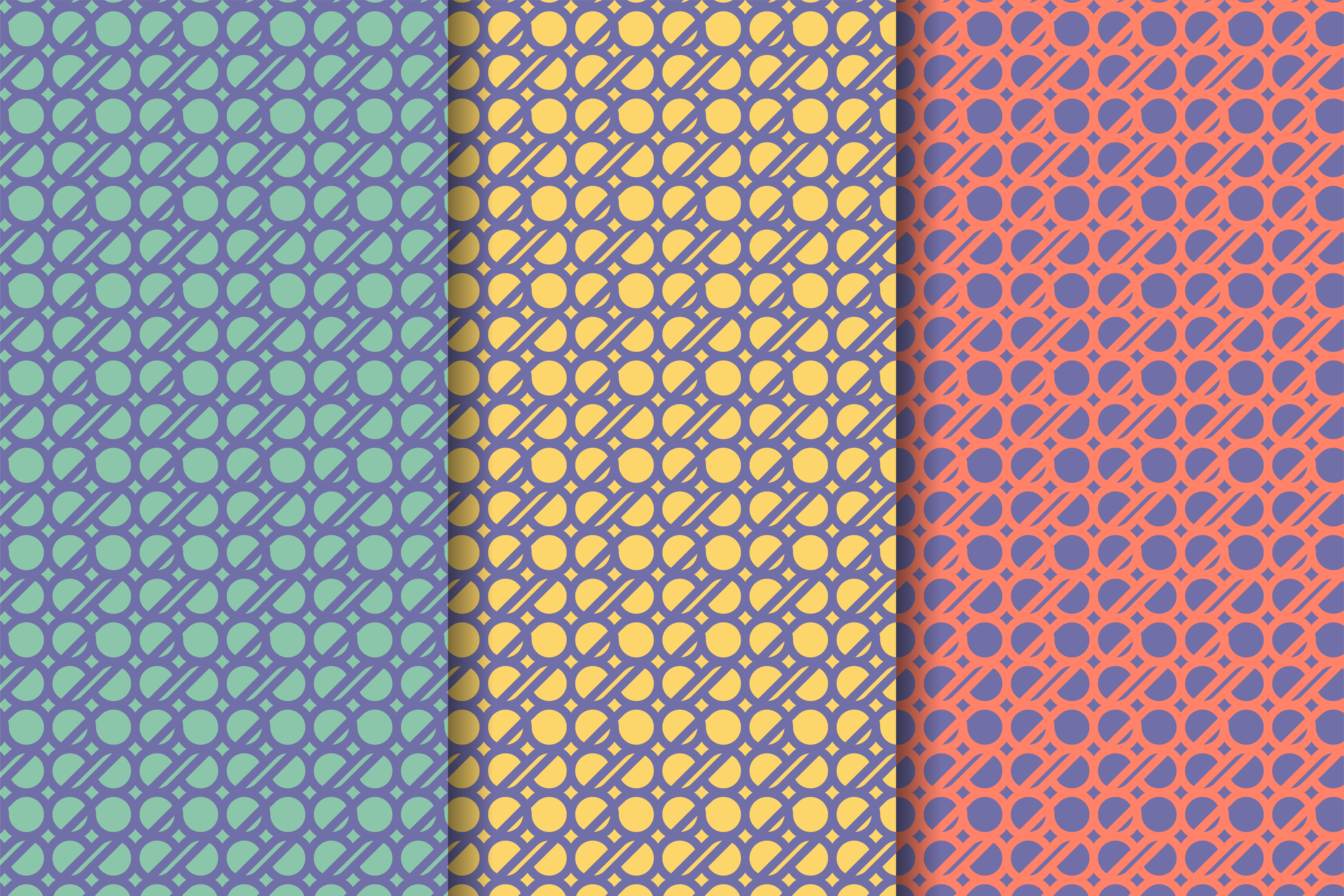 Download Free Circle Bold Pattern Flat Pastel Graphic By Noory Shopper for Cricut Explore, Silhouette and other cutting machines.