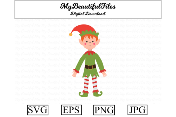 Download Free Elf Graphic By Mybeautifulfiles Creative Fabrica for Cricut Explore, Silhouette and other cutting machines.