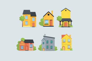 Houses Pack Colorful Graphic Illustrations By april_arts