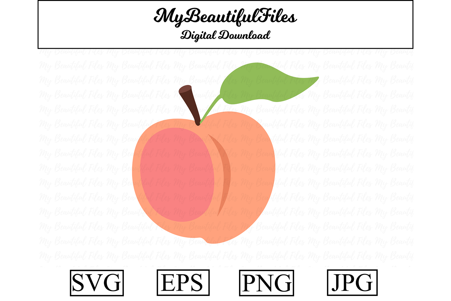 Download Free Peach Fruit Graphic By Mybeautifulfiles Creative Fabrica for Cricut Explore, Silhouette and other cutting machines.
