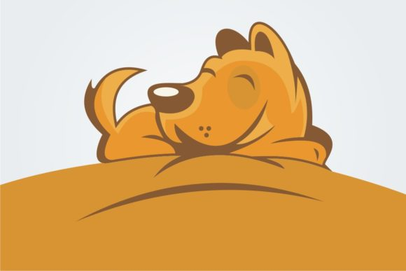 Download Free Pretty Sleeping Dog Graphic By Bintangcreative Creative Fabrica for Cricut Explore, Silhouette and other cutting machines.