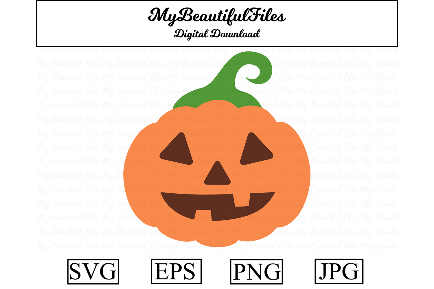 Download Free Pumpkin Graphic By Mybeautifulfiles Creative Fabrica for Cricut Explore, Silhouette and other cutting machines.
