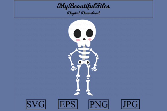 Download Free Skeleton Graphic By Mybeautifulfiles Creative Fabrica for Cricut Explore, Silhouette and other cutting machines.