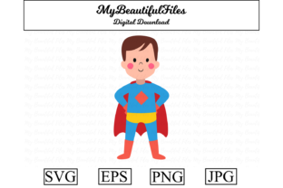 Download Free Superhero Boy Clipart Illustration Graphic By Mybeautifulfiles for Cricut Explore, Silhouette and other cutting machines.