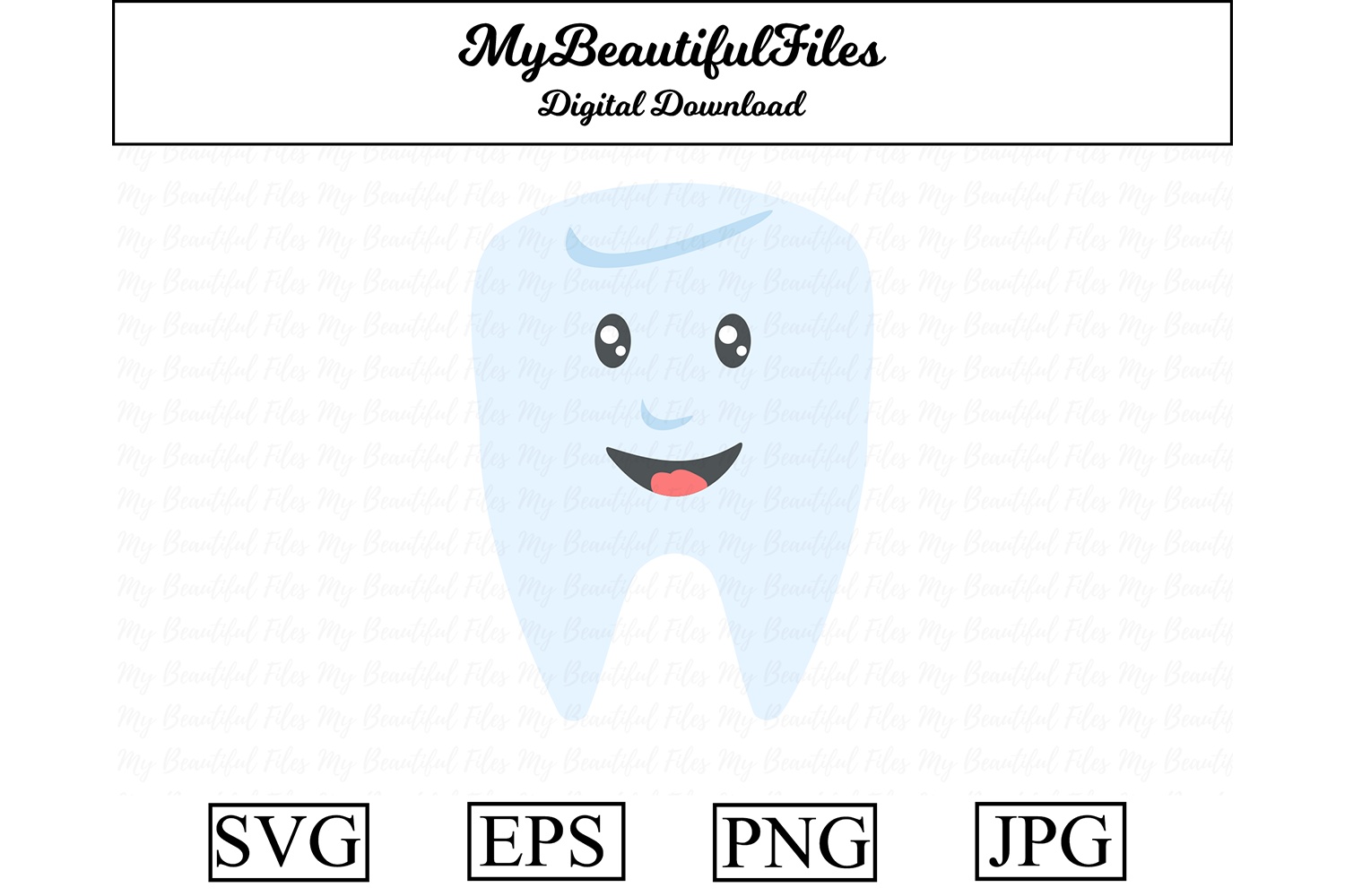 Download Free Tooth Graphic By Mybeautifulfiles Creative Fabrica for Cricut Explore, Silhouette and other cutting machines.