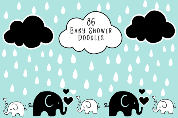 Baby Shower Doodles Graphic Illustrations By carrtoonz