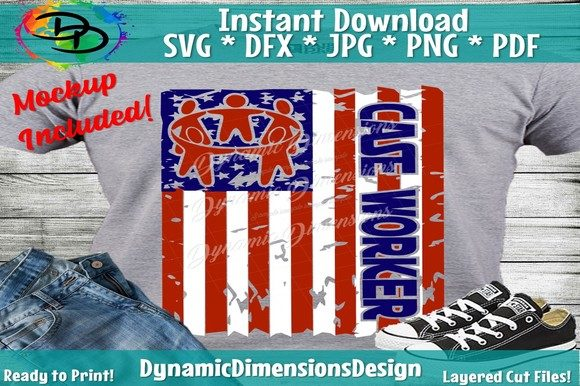 Download Free Case Worker Distressed Flag Graphic By Dynamicdimensions for Cricut Explore, Silhouette and other cutting machines.